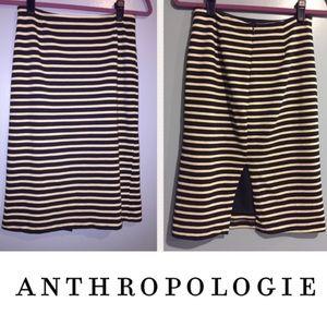 Anthropologie Striped Skirt Fine Garments By BELL